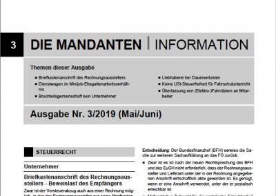 Mandantenbrief 3-2019
