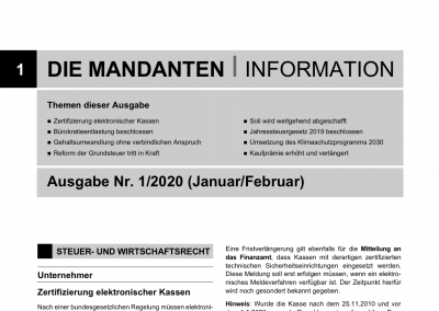 Mandantenbrief 1-2020