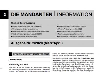 Mandantenbrief 2-2020