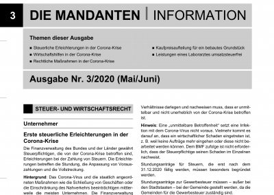 Mandantenbrief 3-2020