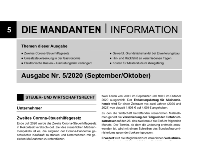 Mandantenbrief 5-2020