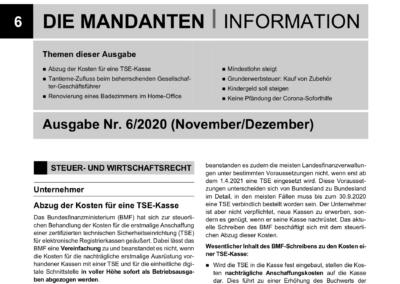Mandantenbrief 6-2020