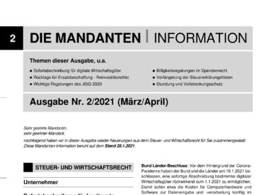 Mandantenbrief 2-2021