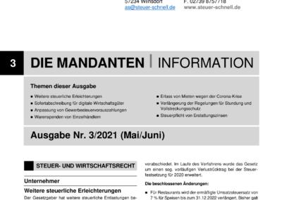 Mandantenbrief 3-2021