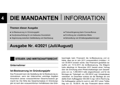 Mandantenbrief 4-2021