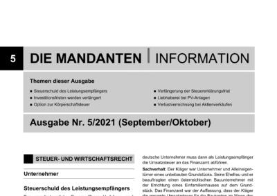 Mandantenbrief 5-2021